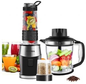 Fochea Smoothie Blender 3 In 1 Food Processor