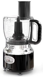 Russell Hobbs FP3100BKR Retro Style Food Processor, 8-Cups (64-oz) Capacity, Black